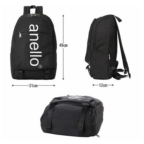 [Anello]Anello巨型標誌印花雙扣背包 AH-B2481-棕色/米粉色/灰色
