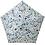 Thumbnail: estaa - 日本直送 - 90g 超輕量 防UV 水彩風 折傘 短傘 折傘 雨傘 - 夏日小花 天藍/花々 スカイブルー