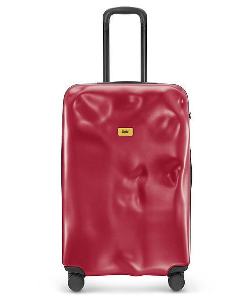 CRASH BAGGAGE - 意大利 Icon Metal Collection 破壞風格 4輪 金屬硬殼行李箱- Red 紅色 20吋, 25吋,29吋