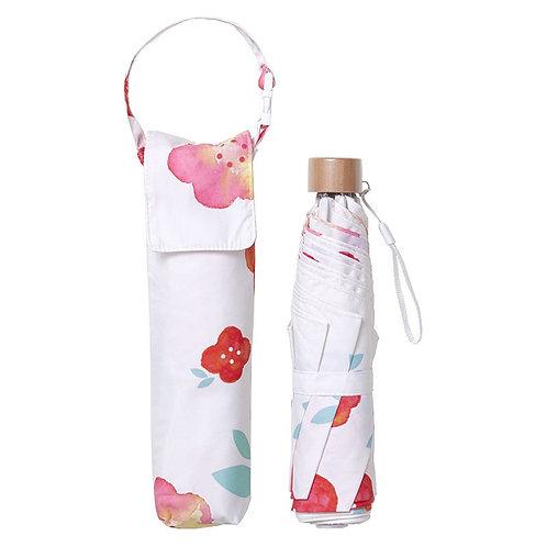 estaa - Large Mini 折傘 - 水彩花朵 紅色/水彩花柄 レッド