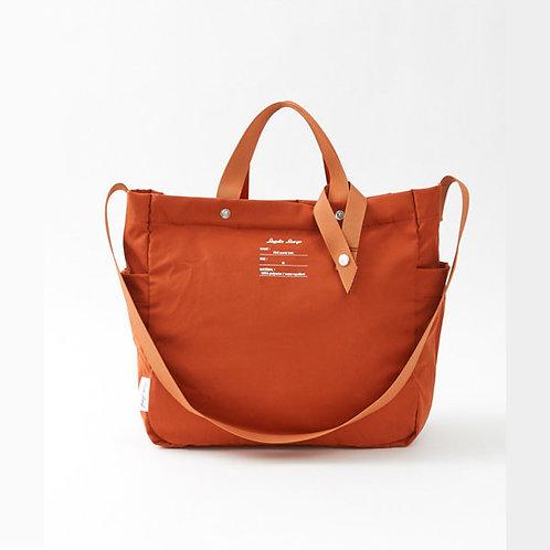 Legato Largo by Anello - 防潑水 可摺疊 兩用 側揹/手挽袋 LG-E1352(深橙色)
