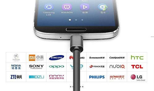 UGREEN 25cm GOLD A male TO Micro USB 2.0 FAST Charging Data Cable for Samsung