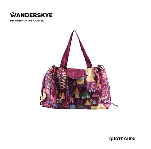 Wanderskye 可摺式防水環保手袋 -Quote Guru
