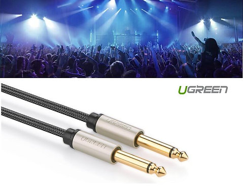 "UGREEN GOLD 6.35mm 1/4"" Male Patch Cable Speaker DJ Guitar Amp Cord (3Meter)"