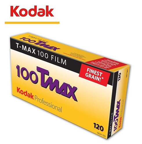 (EXP.08/20) Kodak  T-MAX 100 TMAX TMY 120 B&W Medium Format Film (5 Rolls/Pack)