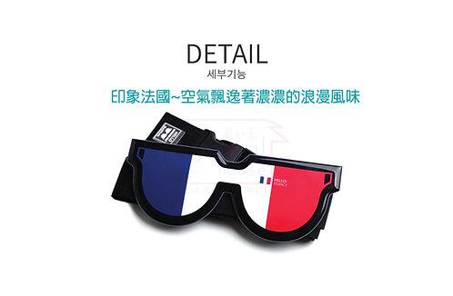 LUCALAB 韓國趣味眼鏡型行李帶- 法國