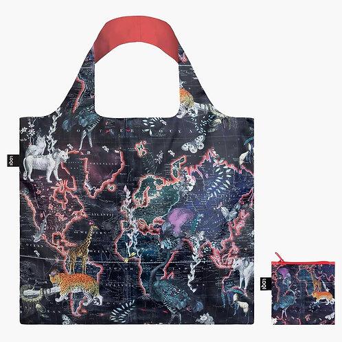 LOQI - 環保購物袋 - World Map by Kristjana S Williams Interiors