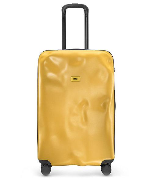 CRASH BAGGAGE -意大利 Icon Metal Collection 破壞風格 4輪 金屬硬殼行李箱- Yellow 黃色 20吋,25吋,29吋