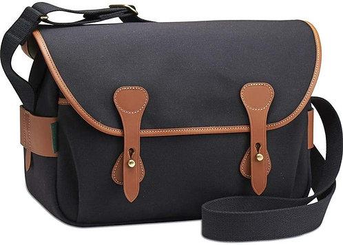 Billingham S4 Camera Bag (Black Canvas / Tan Leather)
