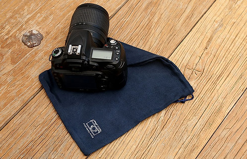 Sea-Island Filament Microsuede Camera Pouch Dust Bag (L) 20 x 24cm