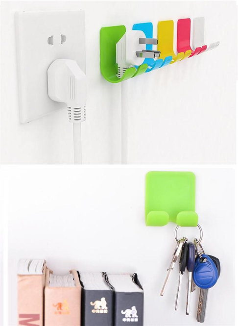 2x UGREEN Adhesive Power Cord Socket Cable Holder Wall Hanger USE 3M Sticker PK