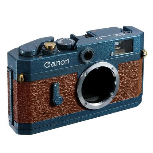 Canon P RF Film Camera Leica LTM L39 Repainted- BLUE BROWN / CLA'D