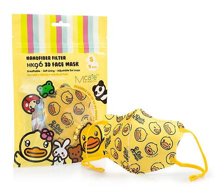 MainettiCare x B Duck HK96 五層獨立體包裝口罩 (納米纖維過濾, 幼童) 5個裝