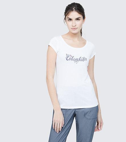 WOMEN'S SHADY GROVE OMNI-WICK SS TEE T-Shirt - White Fun