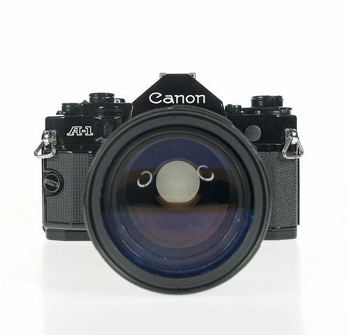 Canon A-1  35mm SLR Film Camera + 35-105mm Marco Lens