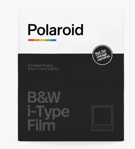 Polaroid Originals - B&W i‑Type One Step 2 Instant Film Photo Paper ‑ Black Fram