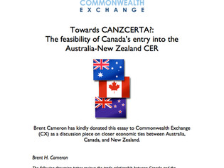 Toward CANZCERTA: The Feasibility of Canada's entry into the Australia-New Zealand CER