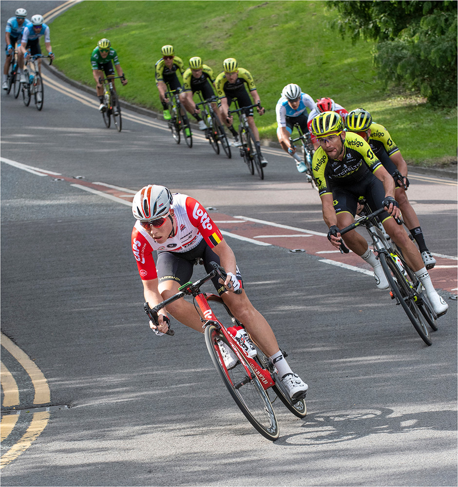 Tour of Britain on its way through Northumberland.