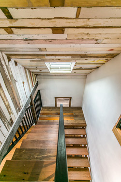 Recycled timber hardwood stairs