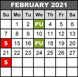 2021 FEB - WED Pick-Up SUN Deadline - Ob