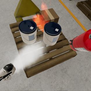 Fire Extinguisher Simulation
