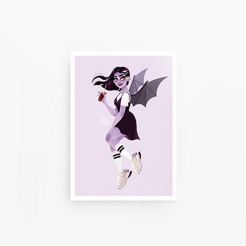 Illustration A4 Vampirette