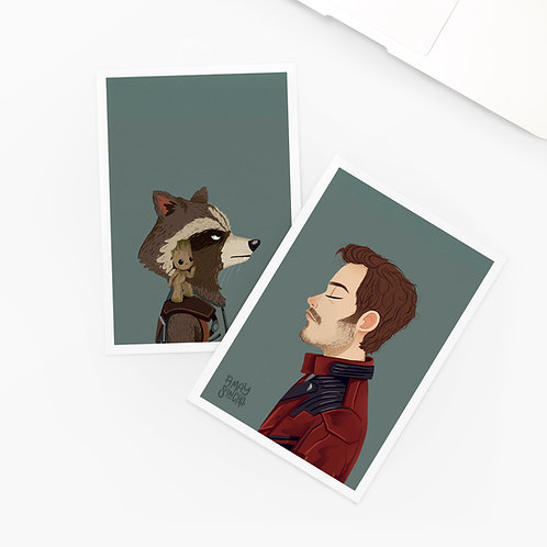 Lot de 2 Cartes Postales Les Gardiens de la Galaxie
