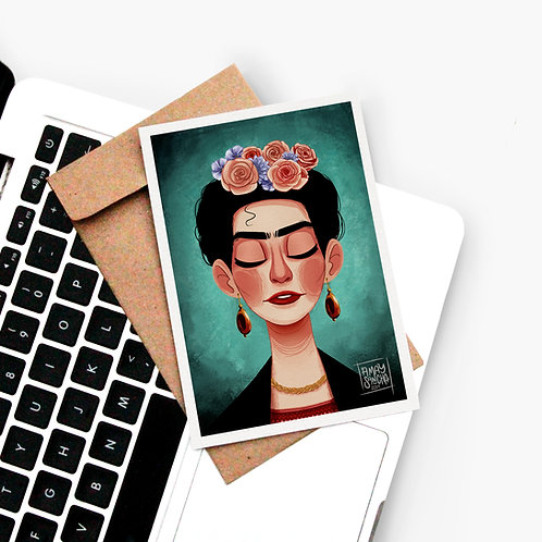 Carte Postale Frida Khalo