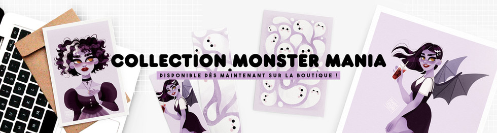 Collection Halloween Monster Mania Bannière Amay Sancha