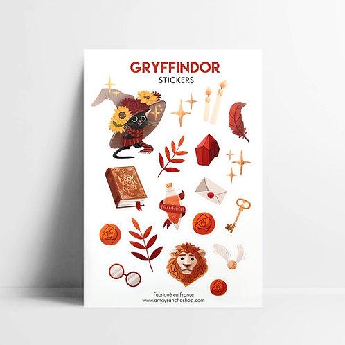 Planche de stickers Gryffondor