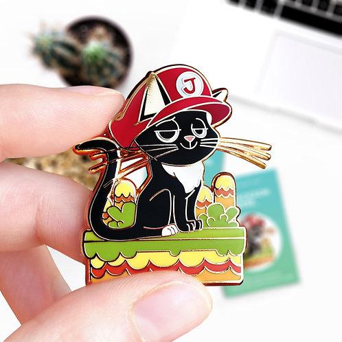 Pin's Jackson Mario, inspiré du jeu vidéo New Super Mario Bros, Nintendo, hard enamel, designé par Emma Sanchez, Amay Sancha