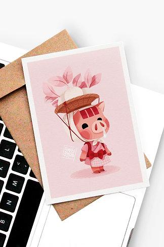 Carte Postale Porcelette