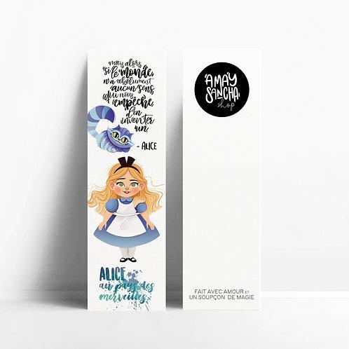 Marque-pages Alice au Pays des Merveilles