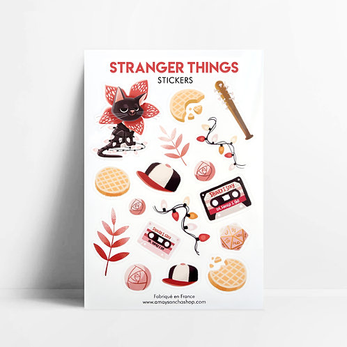 Planche de stickers Stranger Things