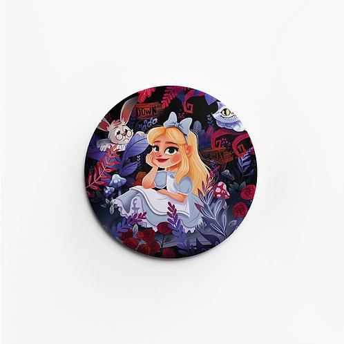 Badge Mat Alice au Pays des Merveilles