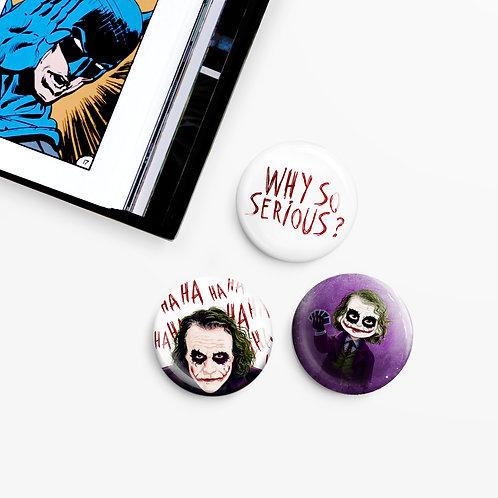 Set de 3 badges Joker