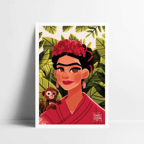 Illustration A5 Frida's Monkey