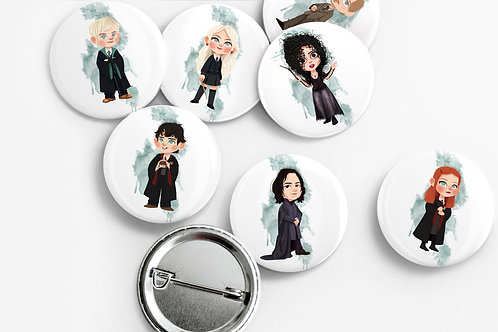 Set de 7 badges Harry Potter | Pack 2