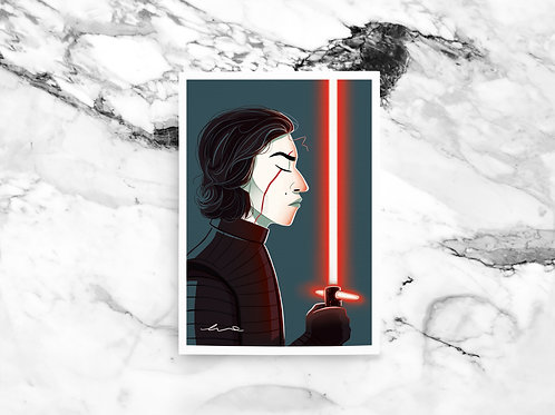 Illustration A4 Kylo Ren