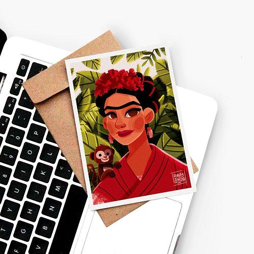 Carte Postale Frida's Monkey