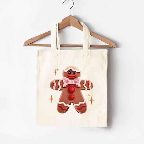 Tote Bag Gingerbread Man