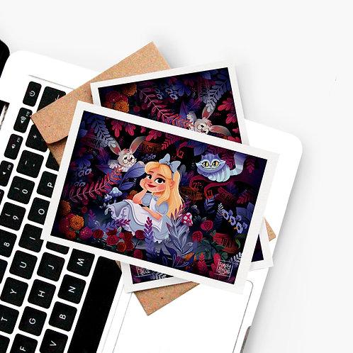 Carte Postale Alice aux Pays des Merveilles
