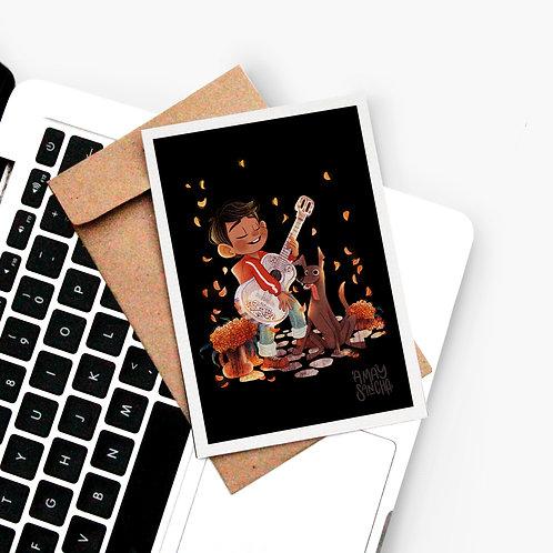 Carte postale Miguel et Dante