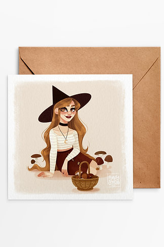 Carte Carrée Fall Witch