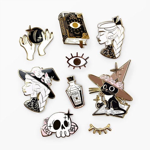 Lot de 8 Pin's Witchy Vibes
