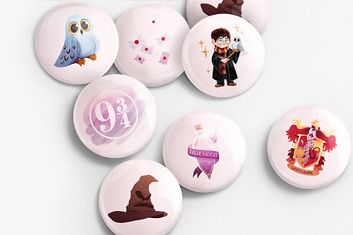 Set de 7 badges Harry Potter | Pack 1