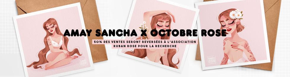 Collection Octobre Rose Bannière Amay Sancha