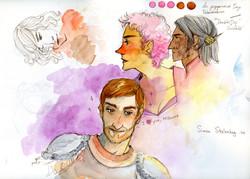 """I love you"" Watercolor Sketchbook"