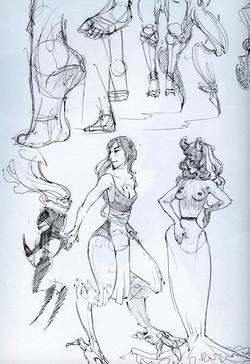 Female Creature design