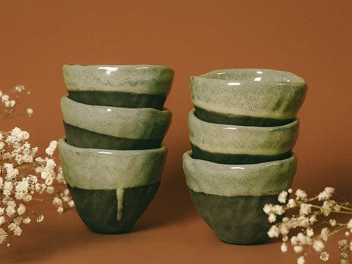 Sea Foam Latte Cups